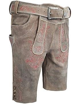 Herren Trachten Lederhose mit gürtel. Kurz Vintage Line ! NEU !