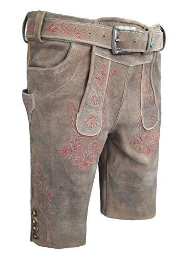 5a3060b34cdd5c Herren Trachten Lederhose mit gürtel,Kurz Vintage Line, ! NEU ! (56)