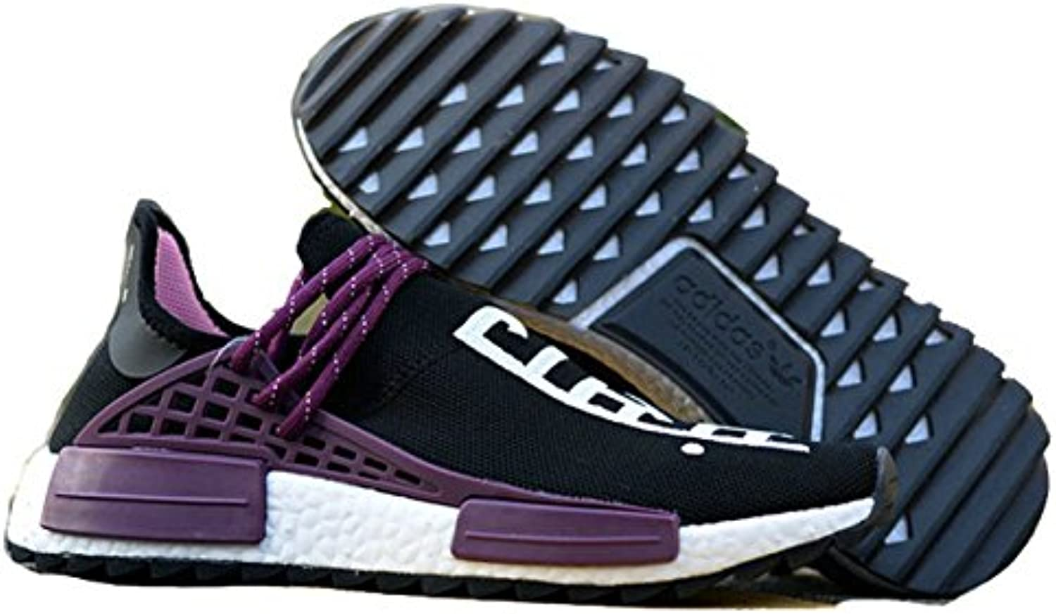 Fashion HM Sneaker Pharrell x NMD Hu Trail Equality Black Purple White Herren Damen Gymnastikschuhe