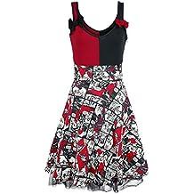 Harley Quinn Insanity Vestido Negro/Rojo/blanco