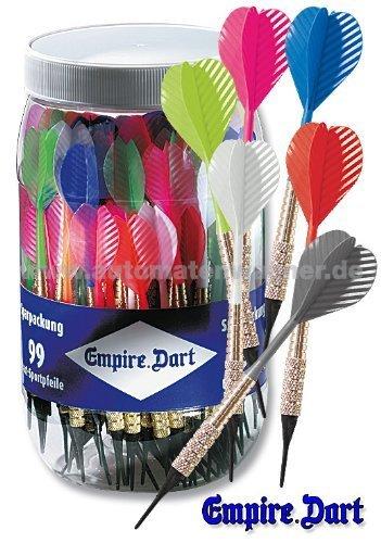 Preisvergleich Produktbild Dart-Pfeile-Sparpackung farbig sort. 99 Stück