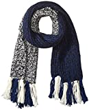 Fred Perry Men's Twisted Yarn Scarf, Navy/Black, One Size