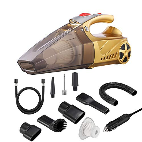KAILUN Handheld-Staubsauger, Tragbarer Hochleistungs-Dc-12v-Staubsauger Trockener 4.5Kpa-Saug-Staubsauger Mit Zigarettenanzünder-Stecker 16.4ft Netzkabel