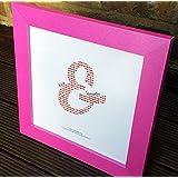Hecho a mano diseño de rosa Marco de fotos y personalizado '–San valentín, cumpleaños, Ocasiones Especiales Aniversario