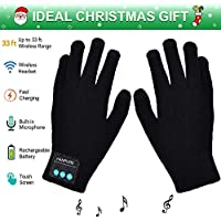 Winter Gloves, Bluetooth Gloves, Touch Screen Knitting Gloves for Outdoor Sports, Men & Women, Christmas Gifts  (black)