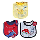 #10: 3pcs Lovely Cute Cartoon Pattern Toddler Baby Saliva Towel Soft Cotton Baby Bibs (Aeroplane, Car & Giraffe)