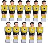 11 Kickerfiguren für 16 mm Stangen inkl. Schrauben + Muttern Komplett Set (Gelb-Schwarz) von Charlsten