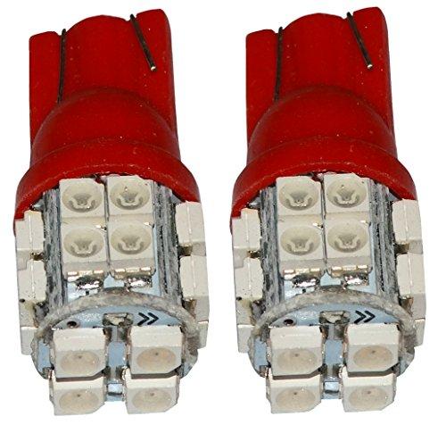 AERZETIX: 2X Ampoule T10 W5W 12V 20LED SMD Rouge veilleuses éclairage intérieur seuils de Porte plafonnier Pieds Lecteur de Carte Coffre Compartiment Moteur Plaque d'immatriculation