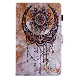 BONROY Samsung Galaxy Tab A 8.0 2015 T350 T355 Magnetic Cover, Pattern Thin Slim PU Leather Stand Credit Card Slots Holder Tablet Cases - Dreamcatcher