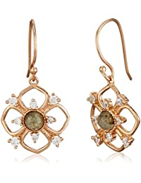 Accessorize A J Z Gold Plated Drop Earrings For Women (Rose Gold)(MN-48155682001)