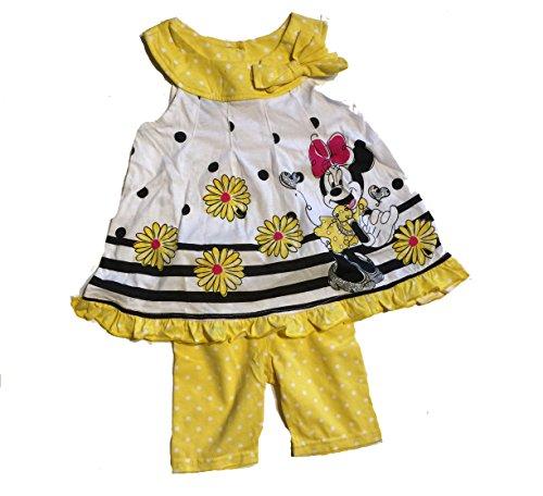 Insieme vestito/tunica + leggins minnie 12o 18mesi giallo 18 mesi
