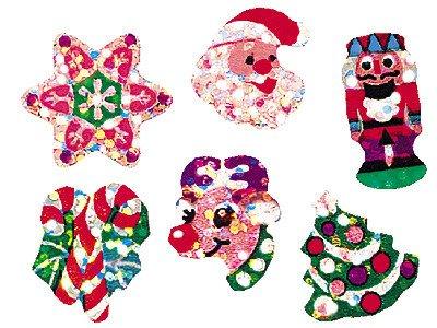 72x gioie di Natale a forma di brillantini adesivi
