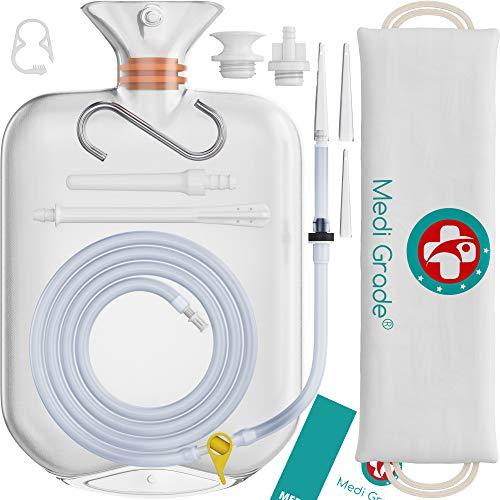 Medi Grade Kit Medico Per Pulizia Colon Kit Irrigazione Intestinale Per Uso Domestico Set Da 14 Pezzi Include Kit Clistere Riutilizzabile