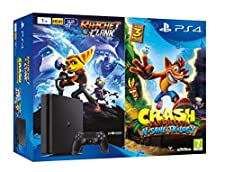 PlayStation 4 (PS4) - Consola de 1 TB + Crash Bandicoot N. Sane Trilogy + Ratchet & Clank