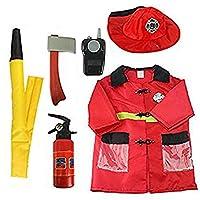 Fireman Dress Up Set Kids Fireman Costume Set Firefighter Role Play Costume Outfit Fireman Dress Up - Pretend Role Play Kit Set
