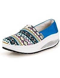 XMeden - Zapatillas para mujer, color negro, talla 36 2/3