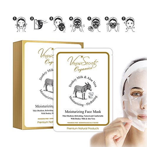 Maschera viso con latte di asina