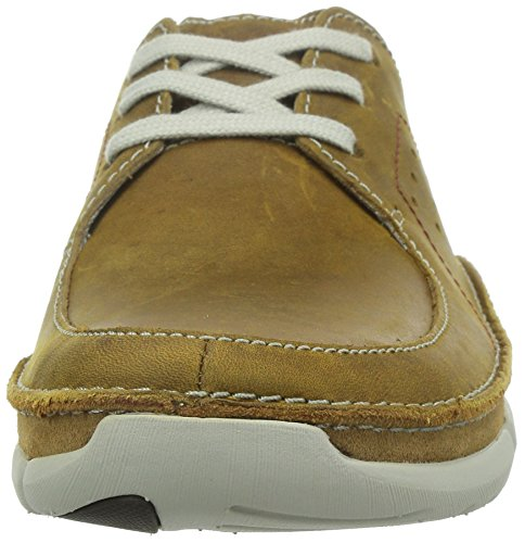 Clarks - Trikeyon Fly, Scarpe stringate Uomo Marrone (Tan Leather)