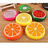 #6: AsianHobbyCrafts 6 pcs Jelly Fruit Slime | Colour : Transparent Slime Multicolor | Magic Crystal Clay Putty | Rubber Fruit Slime for Kids, Non Toxic Scented Interesting Art Creation