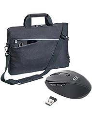 PEDEA SET010-66063015 Fashion Notebooktasche mit Maus 15,6 Zoll (39,6 cm) schwarz