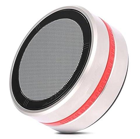 H&M Haut-parleur Bluetooth portable avec un son stéréo impressionnant Technologie de contrôle de volume rotatif Prise en charge Appels mains libres AUX, caisson de graves en métal Outdoor Mini 4.1 Bluetoo , Gold