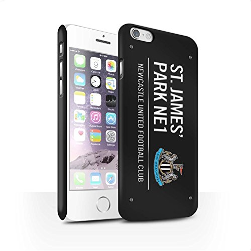 Offiziell Newcastle United FC Hülle / Matte Snap-On Case für Apple iPhone 6 / Pack 6pcs Muster / St James Park Zeichen Kollektion Schwarz/Weiß