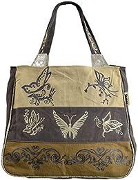 e945397d6f8 Sunsa Women s Bag Shopper Shoulder Bag Handbag Tote made of Canvas with  Leather