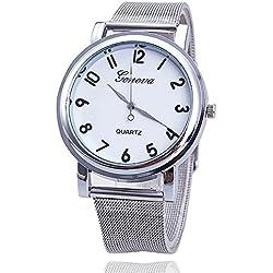 Fashion Women Watch Relogio Feminino Silver Band Geneva Watch Ladies Quarzt Watch relogio masculino