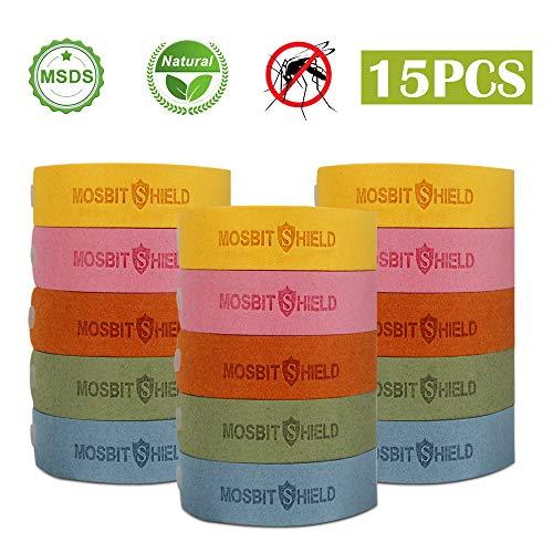 VEGKEY Mückenschutz Armband,15 Stück Moskito Armband Anti mücken Armband,Insektenschutz-Armband für Kinder und Erwachsene