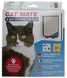Rosewood 11026 Cat Mate Katzenklappe mit 4 Verschluss-Optionen, weiß