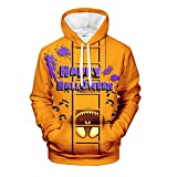 UINGKID Sweatshirts à Capuche Hommes, Happy Halloween 3D Funny Hoodies à Manches Longues Casual...