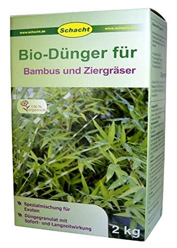 SCHACHT BIO-Dünger für Bambus, Ziergräser 2 kg Bambu Bio-bambus