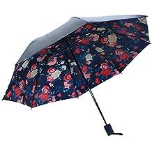 DORRISO Creativo Durable Paraguas Plegable Mujer Ligero Viajar Ocio Multiuso y Resistente al Viento Impermeable Anti