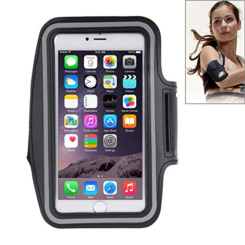Eloja® Sport Armband Samsung S9 S8, S7 Edge, S6 Edge Plus und Apple iPhone Plus Modelle bis 5,8 Zoll Bildschirmdiagonale Neopren Tasche Armtasche Sportarmband Hülle Handytasche Klettverschluss