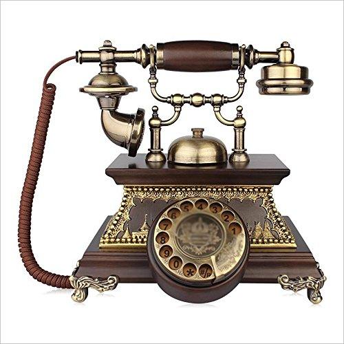 Telefon-europäisches Retro- freihändige Telefon Hauptfestes örtlich festgelegtes Telefon Geschäfts-Büro verdrahtete Schreibtisch-Fertigkeit-Telefone 27 * 26cm (größe : A)
