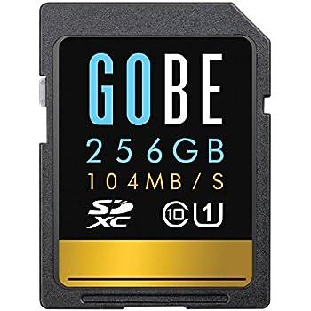 Gobe Pioneer 256GB SDXC Read 104MB/s Write 65MB/s UHS-1 Class 10 SD Memory Card