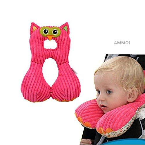 Ammoi baby Nackenstützen Nackenhörnchen Kinder Schlafkissen/Nackenkissen Kindersitz-Zubehör für Auto/ Fahrrad/ Reise (Nähen Keine Kissen)