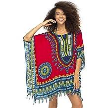 Diseño de Bali traje de baño para mujer túnica encubrir playa caftan top étnico brillante