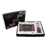Mère de perle Corée Design Traditionnel Design porte-clés Support Business crédit Nom Porte Carte d'identité Slim Argent cas de