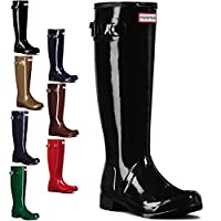 Womens Hunter Original Tour Gloss Winter Snow Waterproof Wellies Boots