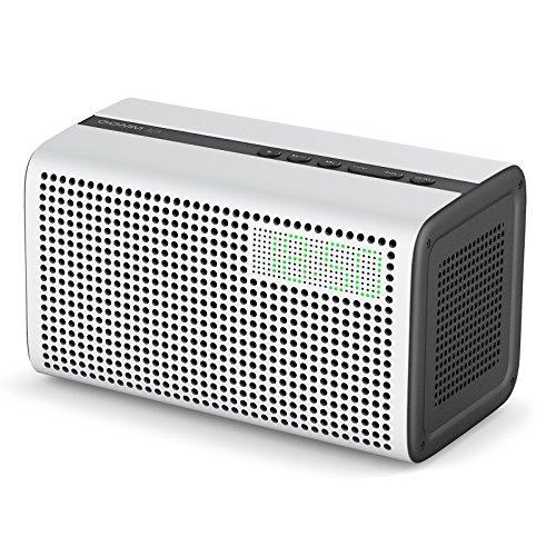 GGMM [Upgrade Version] E3 Multiroom Lautsprecher Mit Amazon Alexa Intergriert, Wi-Fi/Bluetooth Airplay, 10W Stereo Sound Mit WiFi Repeater, LED Uhr/Wecker, USB Ladeport Für Apple Und Android Gerät