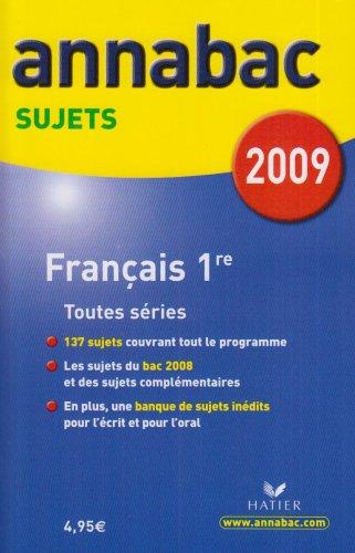 Français 1e toutes séries : Sujets