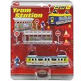DICKIE Tram Station Straßenbahn Spielzeug Zug Bus Bahn Kinder Fahrzeug Metall NEU, Farbe:blau-grün