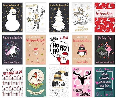 Set 30 Weihnachtspostkarten Weihnachten Karten Postkarten Weihnachtskarten