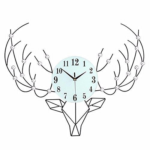 Wyypjtkore Kreative Uhr Europäische Hirsche Kreative Uhr Minimalistischen Skandinavischen Dekorative Wanduhr 76 * 60 Wohnzimmer Uhr