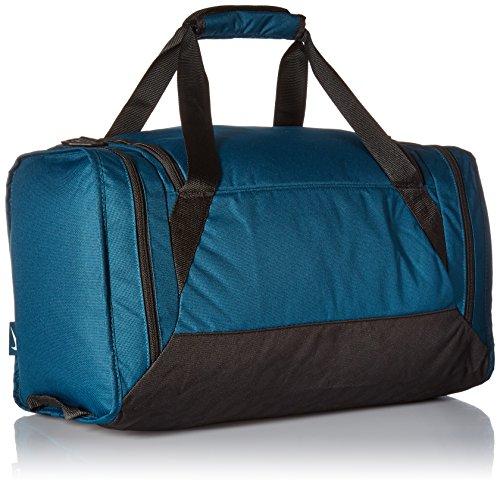 Nike unisex-adult Brasilia 6 Duffel Bag Duffel Bag, Turquoise (Midnight Turq / Black / White), M