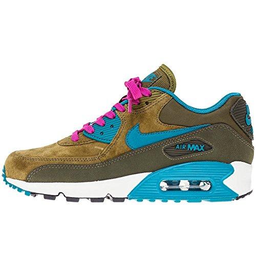 Nike Wmns Air Max 90 Lthr, Sneaker donna Verde