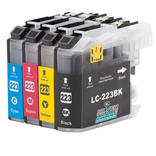 4 Cartuchos de tinta compatibles para Brother LC223XL con chip para Br