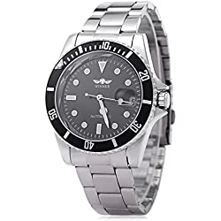 Leopard Shop WINNER W042602 Male Wristwatch Automatic Mechanical Watch Luminous Date Display Transparent Back Cover #8