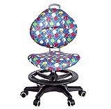GGQF Kinder-Tisch und Stuhl/Schwimmstuhl Ergonomic Stuhl frei anpassbar Blue Wave Point geeignet für Studenten-Büro